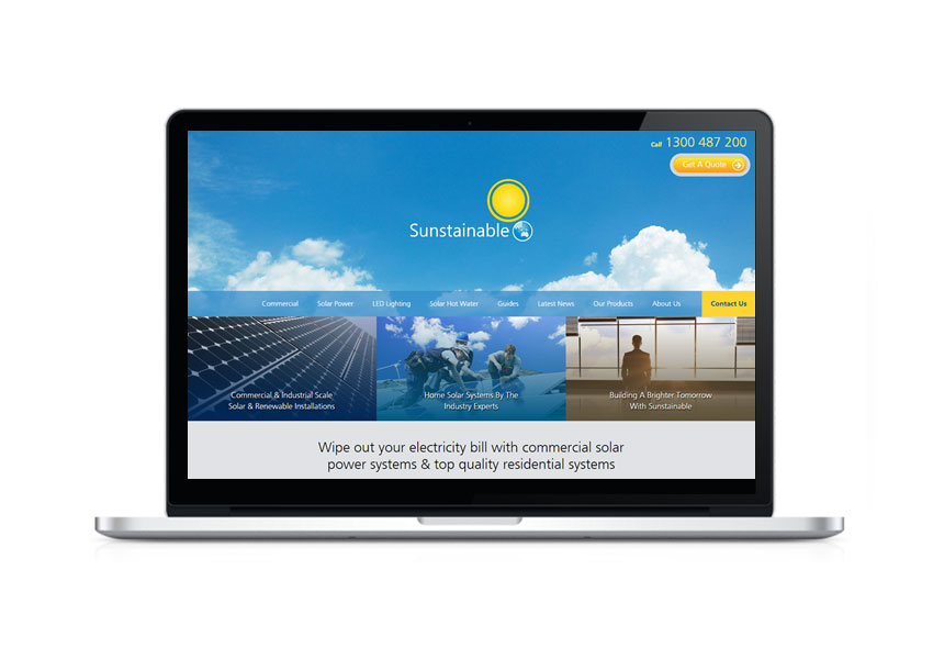 Sunstainable - desktop