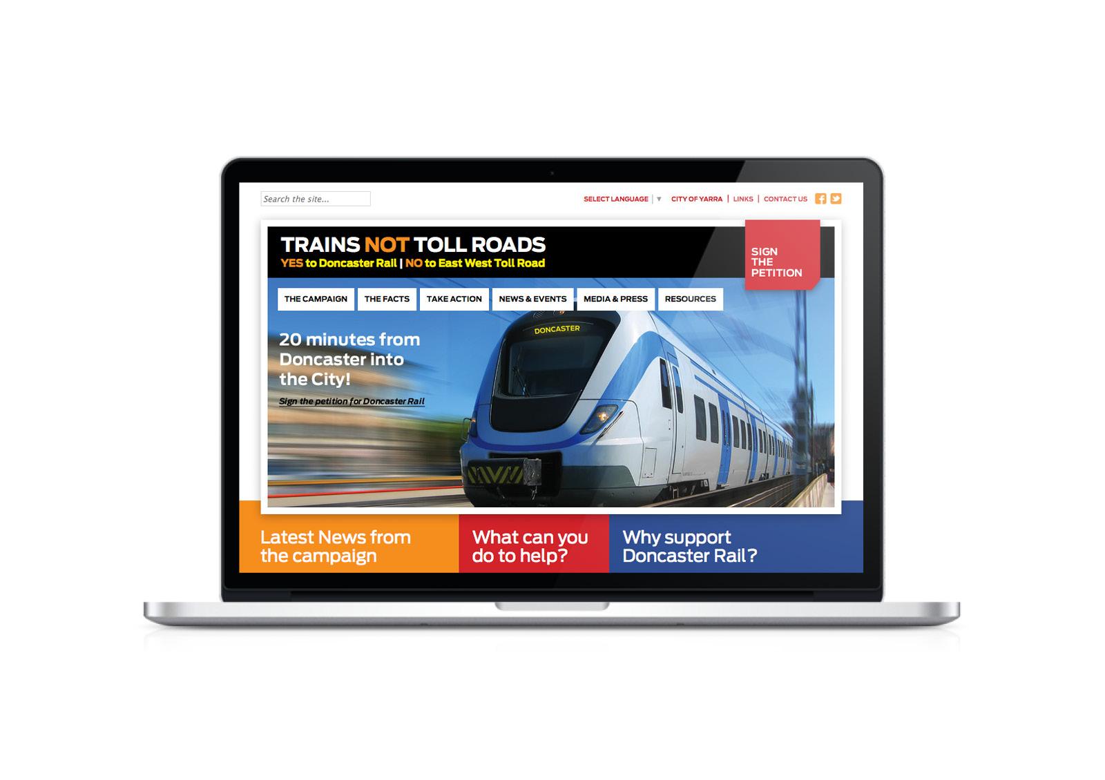 Trains Not Toll Roads