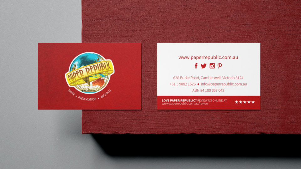 Paper Republic business cards