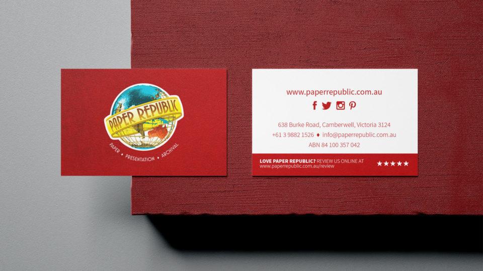 Paper Republic business cards