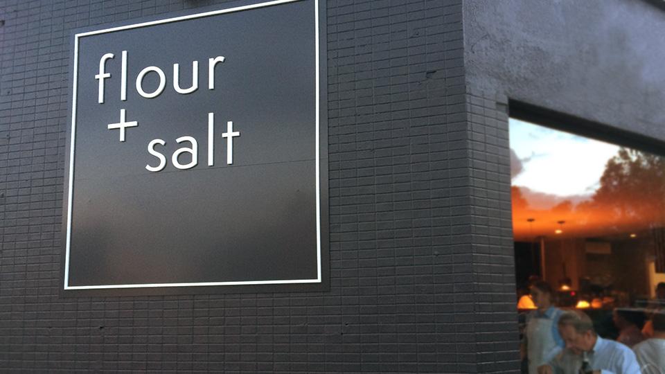 Flour + Salt - signage