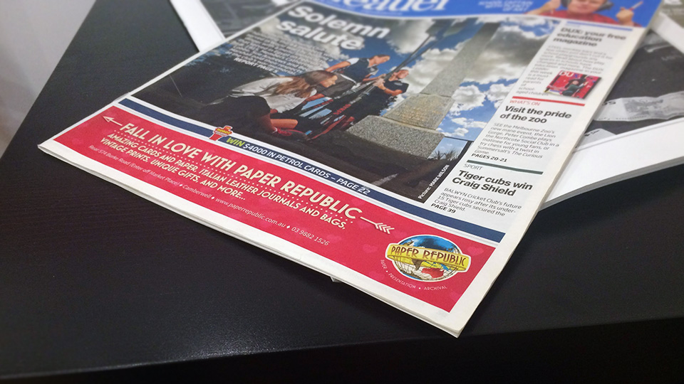 Paper Republic - local press advertising