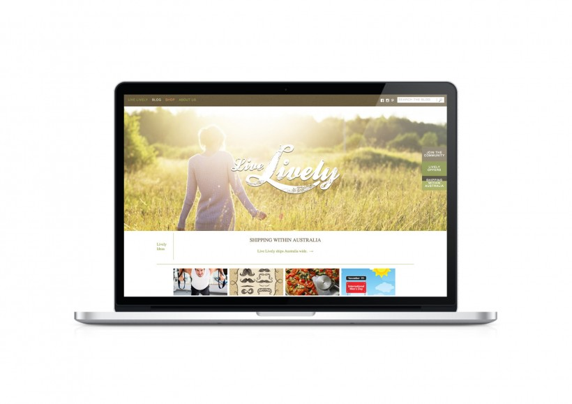 Live Lively - Desktop - Home page