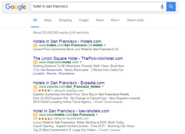 Google: Without rail ads