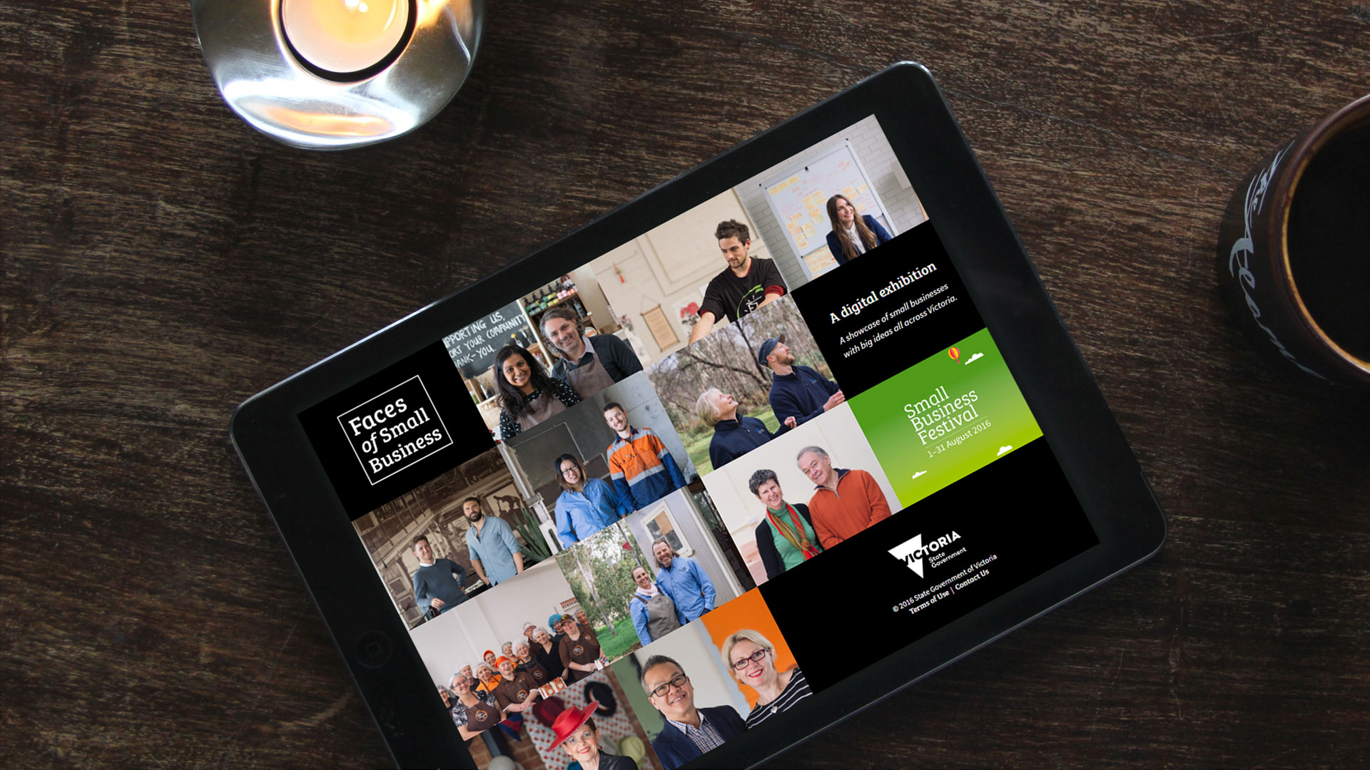 Faces of Small Business Tablet