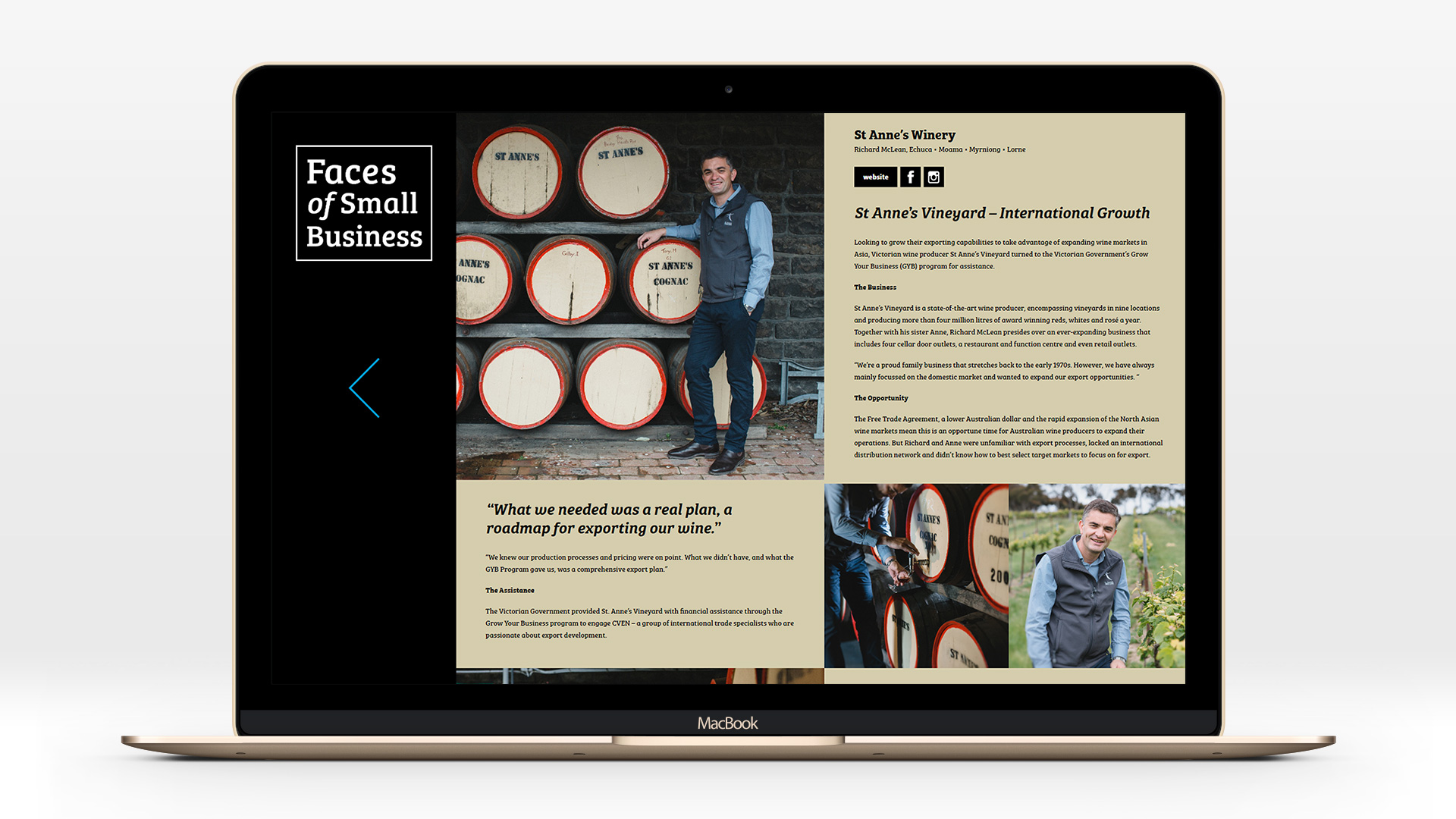 Faces of Small Business - St. Anne's Winery