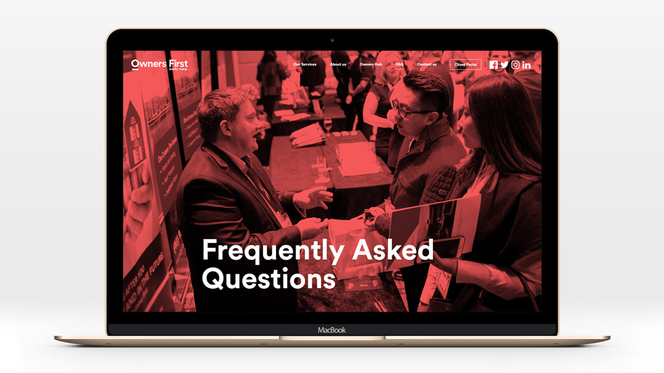 Owners First FAQ page