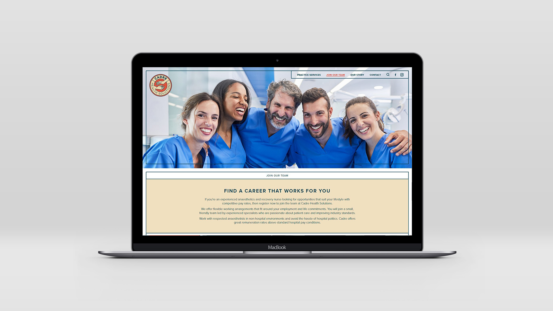 Cadre Health Solutions - website - our team
