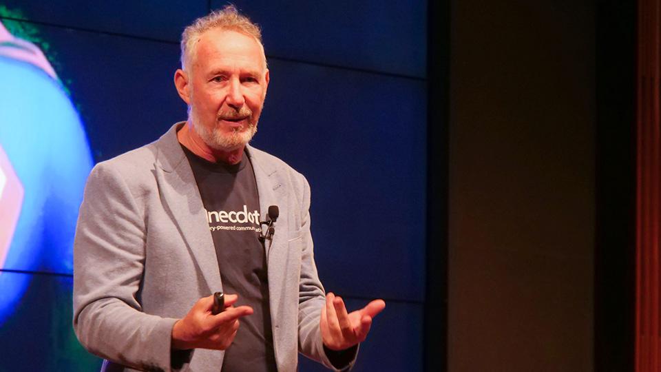 Mark Schenk at digitalks - credit Anecdote
