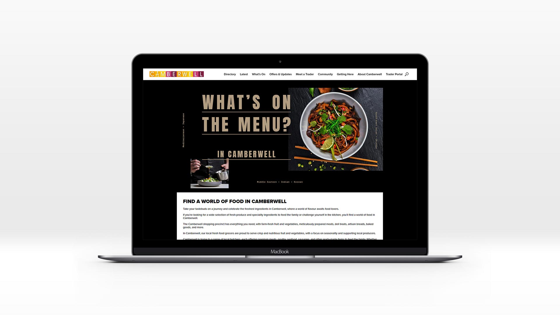 Camberwell food and dining website