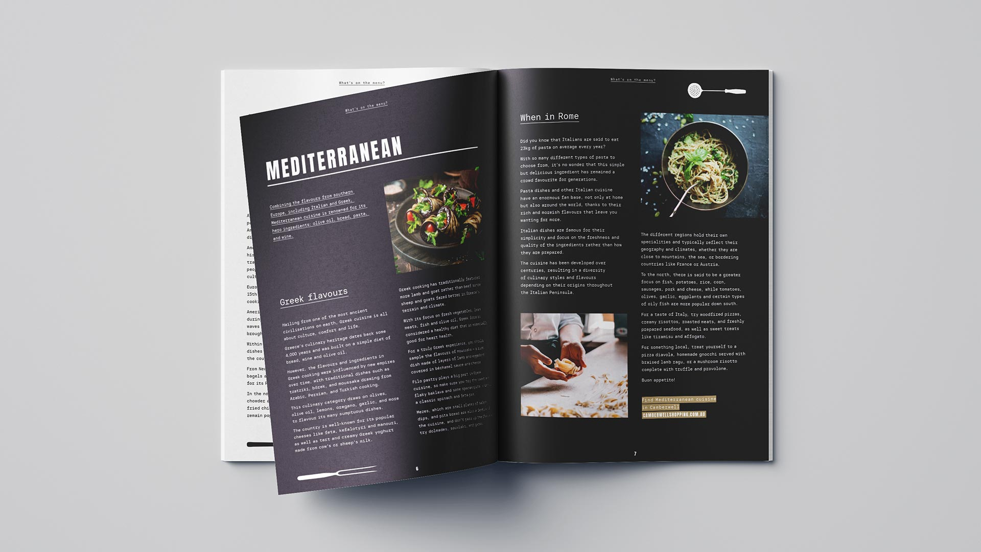 Camberwell food and dining booklet